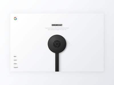 Google Chromecast - Landing Page Concept google open sans anton vector monochrome chromecast minimalist concept landing page