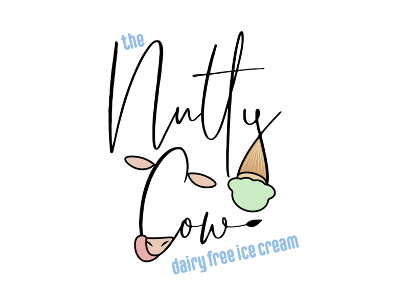 The Nutty Cow Mock Logo Design