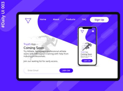Daily UI 003 - Landing Page beginner 100 days of design landing page daily ui dailyui