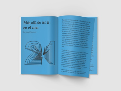 Quimera graphic design pages number blue typography design