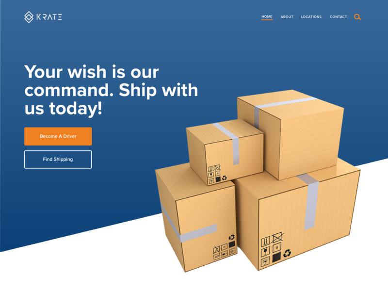 """""""Krate"""" Landing Page web design"""