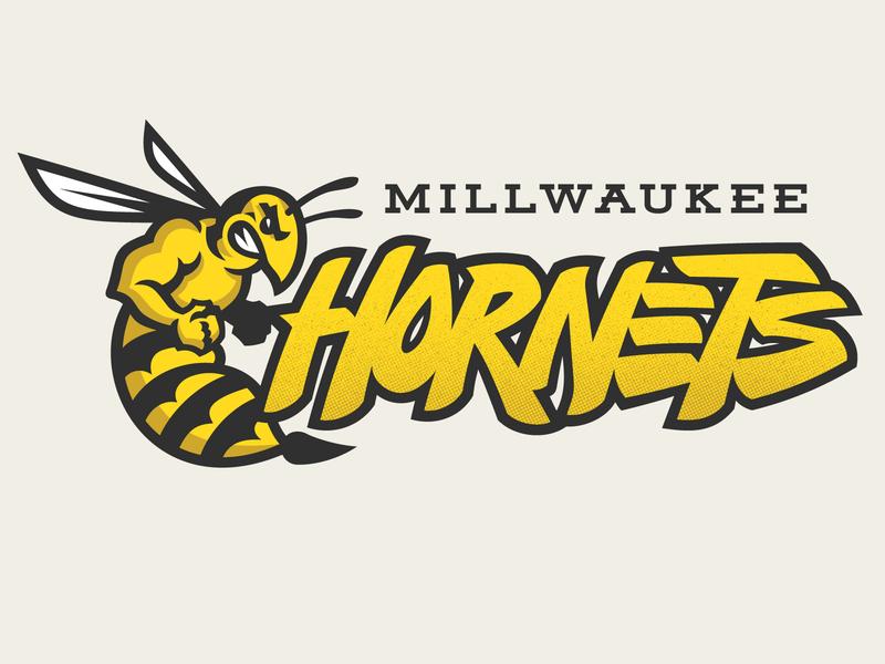 Millwaukee Hornets logo design logodesign logotype typogaphy mascot logo mascotlogo mascot sports sports logo design logo illustration