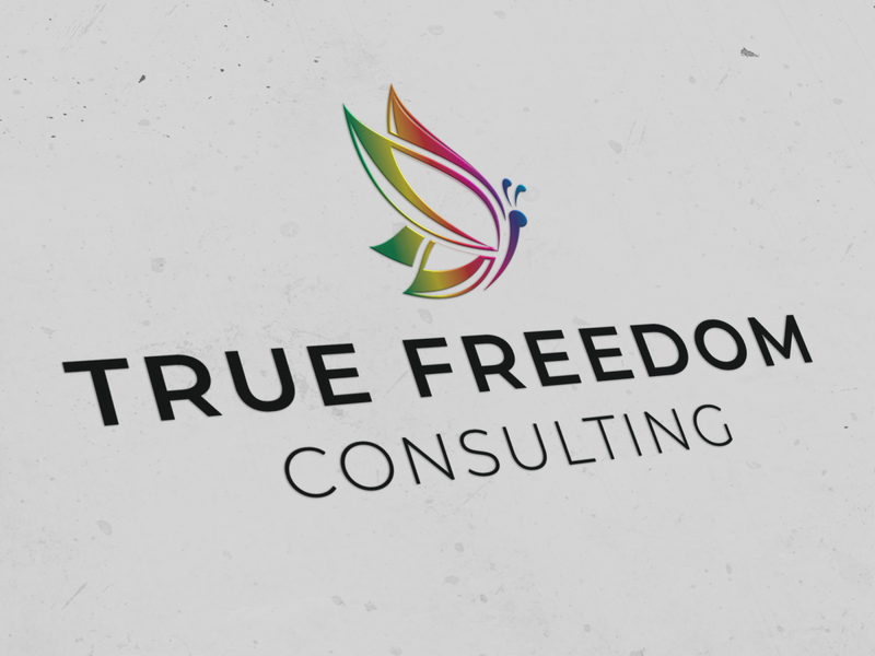 Branding: True Freedom Consulting illustrator photoshop graphic design butterfly logo butterfly logo design logo branding design branding
