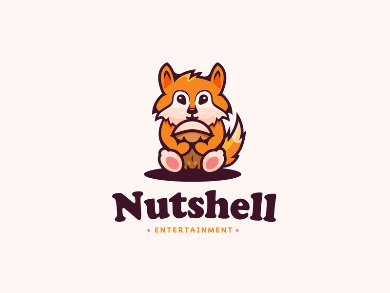 Squirrel Logo sitting pet pets cute animal cute animal logo nutshell nuts nut animal squirrel logo squirrel