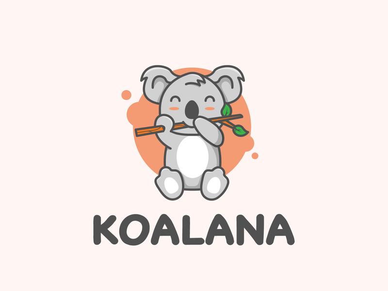 Koala Logo creastale koala logo koala australian sitting animal logo pets petshop pet cute logo cute animal animal