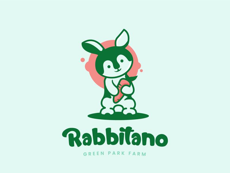 Rabbit logo farm carrot illustration petshop pets cute logo cute animal cute animal rabbits animal logo rabbit logo rabbit