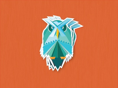 Perched Owl Sticker