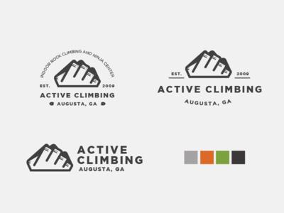 Active Climbing Logo Variations