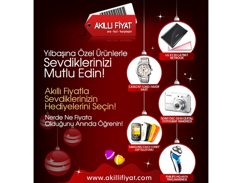 akillifiyat com christmas mailing design by gulsah ozakinci