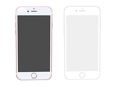Apple iPhone 6s Rose Gold illustrations