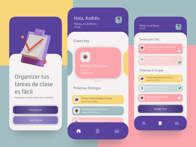 Task manager for students figmadesign ux design figma behance interface dribbble app branding ui graphic design