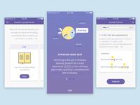 Language Learning App Mobile UI