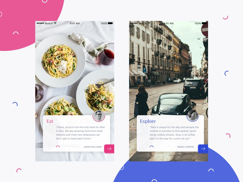 Travel Mobile Photo Gallery unsplash mobile photos italy card gallery ui travel