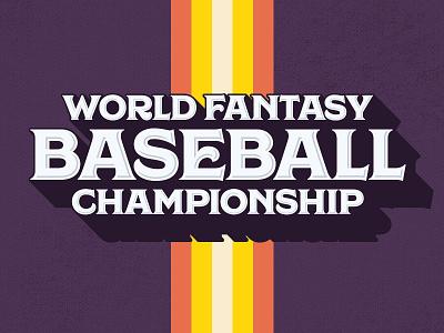 World Fantasy Baseball Championship   Logo 70s sports logo baseball fantasy fanduel