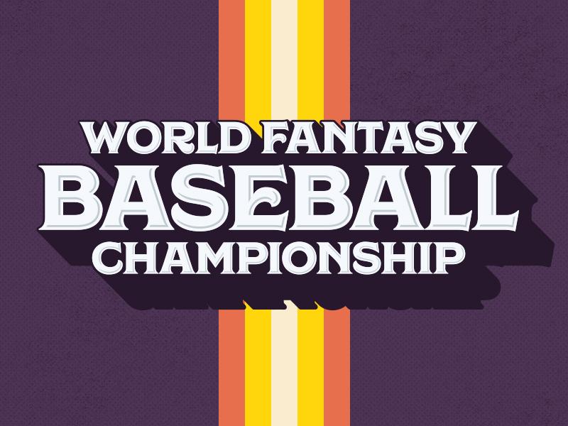World Fantasy Baseball Championship | Logo 70s sports logo baseball fantasy fanduel