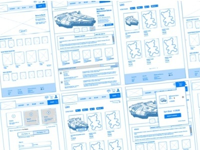 Toy Store Wireframing wireframe ux ecommerce graphic design ui user experience first draft website