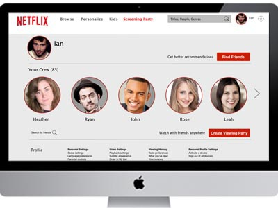 Netflix Social Profile Re-Imagined