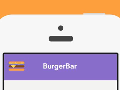 Burgerbar ios user experience ux ui mobile app hamburger menu icon menu hamburger menu