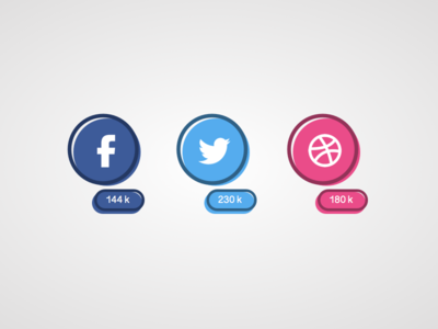 Social Share ui icons social media share buttons social buttons social share