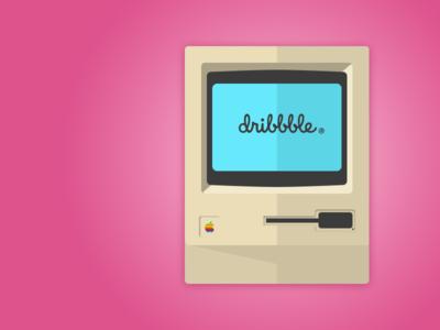 Dribbble Mac monitor desktop ui interface modern classic classic mac illustration computer dribbble macintosh mac