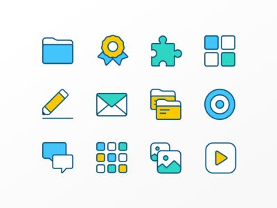Icon Set academic school school icons icon set icon icons