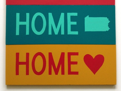 Home Sign sign painting hand lettering home