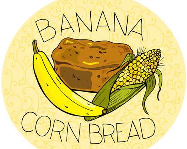 Banana Bread food illustration banana hand lettering