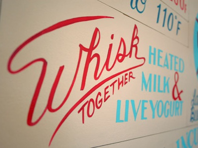 Yogurt Detail  sign painting typography hand lettering food