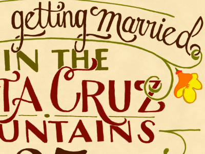 Save the Date 1 hand lettering illustration typography