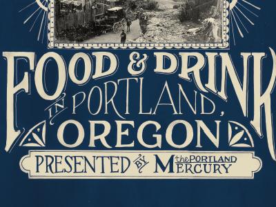 Portland Mercury Cover hand lettering