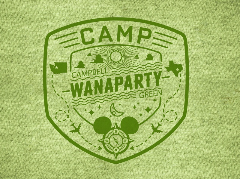 Camp Wanaparty t-shirt graphic