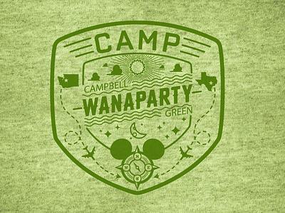 Camp Wanaparty t-shirt graphic branding icons disney t-shirt graphic apparel logo digital illustration vector illustration chad syme