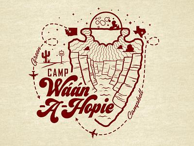 Camp Waan-A-Hopie t-shirt graphic arizona grand canyon new mexico graphic apparel branding logo design digital illustration illustrator vector seattle illustration chad syme