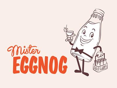 Mister Eggnog® characterdesign digital illustration 1950s retro design mascot logo logo chad syme illustration