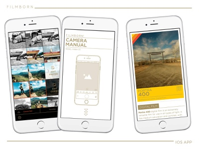 Filmborn®  iOS photography app seattle interaction design product design app iphone ios ui design ux design chad syme