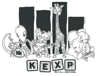 KEXP Animal Band illustration animals kexp music band characters
