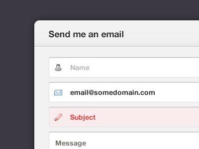 Contact-e-wacky psd contact form fields fun
