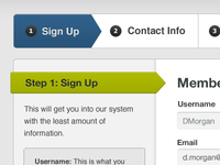 Signing up
