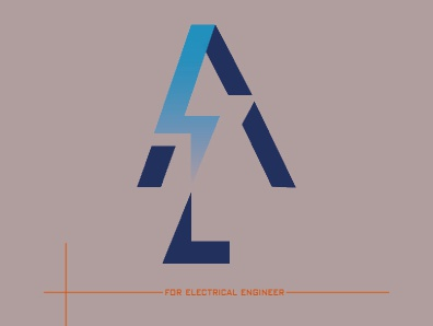 logo AZ for electrical engineer typography design icon