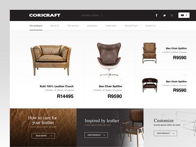 Shop Concept furniture minimal leather couch chair shop online
