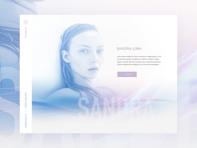 Profile Concept ui design minimal typography model
