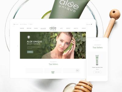 Aloe Unique online shop wellness cream capetown minimal skincare beauty