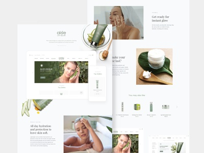Aloe Unique Skincare white minimal wellness skincare aloe