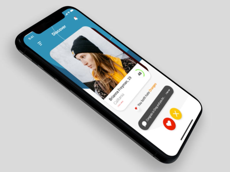 Dating App Case Study debut daring discover figma ux ui app