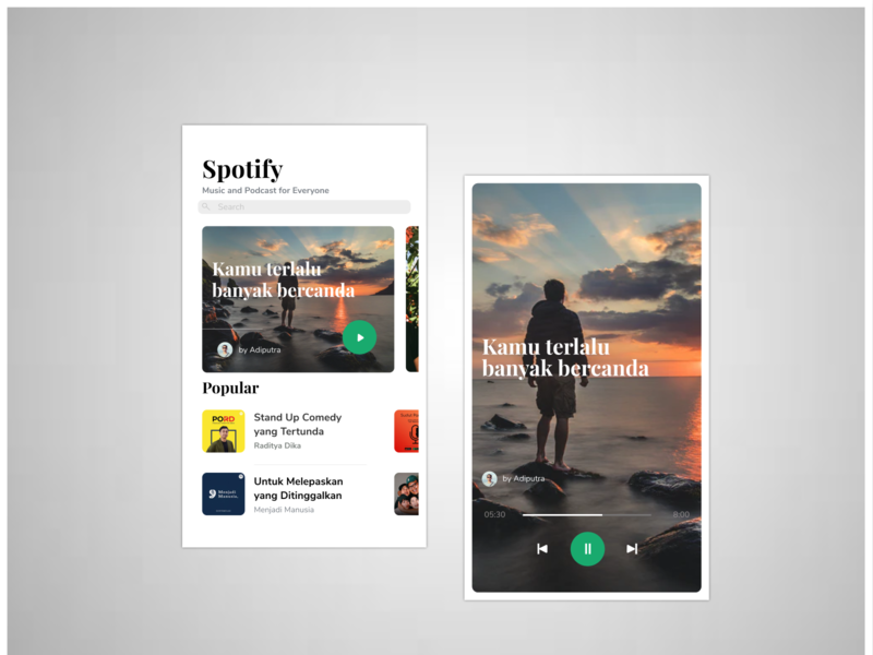 Spotify Apps for iOS mobile design podcast music ios app iphone ios spotify design
