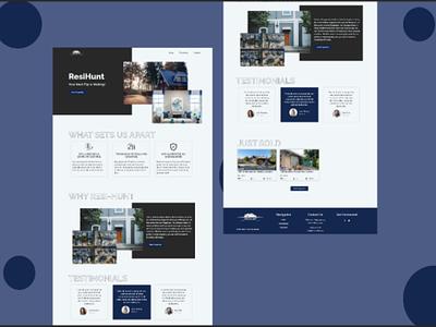 A Real Estate website web ui clean visual design landing page creative ux minimalistic animation ui design webdesign website