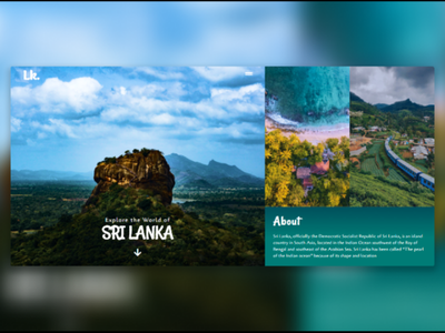 Beautiful Sri Lanka Tourism Hero section. web ui clean visual design landing page creative ux minimalistic animation ui design webdesign website