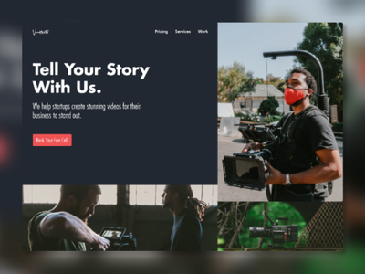 A Video Startup Hero Section wordpress website wordpress design wordpress ux design web ui clean visual design landing page creative ux minimalistic animation ui design webdesign website