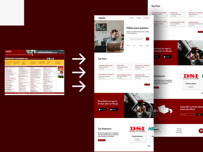 Re-design of a Job Posting website wordpress website web ui clean visual design landing page creative ux minimalistic animation ui design webdesign website