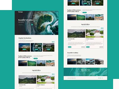 Website Design for a travel booking site wordpress website web ui clean visual design landing page creative ux minimalistic animation ui design webdesign website